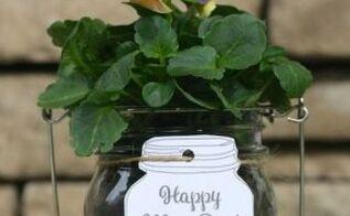 mason jar may day gift mayday flowers masonjars, container gardening, crafts, flowers, gardening, home decor, how to, mason jars, repurposing upcycling