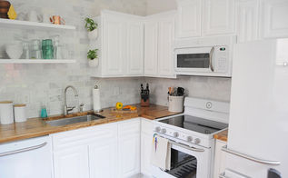 update your kitchen 7 transformative projects, kitchen backsplash, kitchen cabinets, kitchen design, shelving ideas