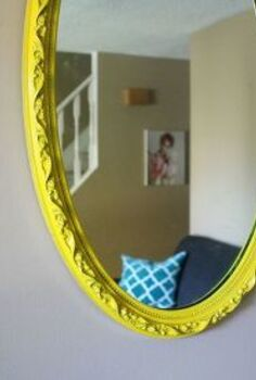 vintage mirror makeover, painted furniture, wall decor