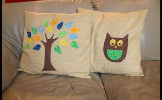 diy tree pillow sewing with fabric scraps, crafts, how to, living room ideas, reupholster