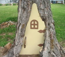 have a rotted tree in your yard build a fairy door, gardening, how to, outdoor living, woodworking projects