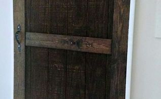 diy barn door using sheet siding, diy, doors, how to, woodworking projects