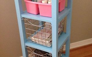 bathroom storage tower repurposed into a craft cart, crafts, organizing, painted furniture, repurposing upcycling, storage ideas