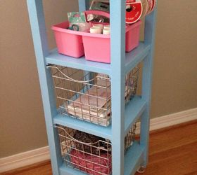 Bathroom Storage Tower Repurposed Into A Craft Cart, Crafts, Organizing,  Painted Furniture,