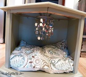Repurposed Side Table To Posh Pet Bed Hometalk