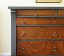 dresser makeover using fusion mineral paint in ash, painted furniture