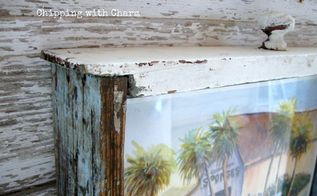 from chippy drawer repuposed for unique art frame, crafts, how to, repurposing upcycling