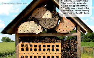 bee friendly gardens insect hotels hand pollinating tips, gardening, homesteading, repurposing upcycling, Tips to attract bee guests to your hotel