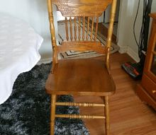 q any ideas how to change these chairs to look more french country, how to, painted furniture, repurposing upcycling