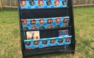 updated thrift store book shelf for paw patrol bedroom, bedroom ideas, how to, organizing, shelving ideas, storage ideas