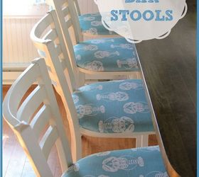Beach House Counter Stools Part - 33: Cafe Castaways Became Beach Bar Stools, Painted Furniture, Reupholster