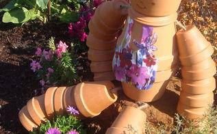 terra cotta flowerpot girl, container gardening, crafts, gardening, how to