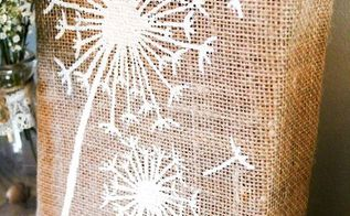 diy dandelion burlap art, crafts, how to, repurposing upcycling, seasonal holiday decor