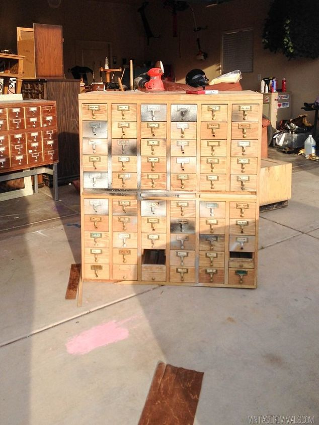rescuing a craigslist card catalog  painted furniture  repurposing  upcycling  rustic furniture. Upcycled Card Catalog   Hometalk