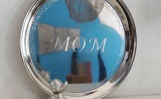 engrave stainless steel tray for mother s day gift, crafts, how to, seasonal holiday decor, Engraved s s tray for Mother s Day gift