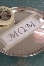 engrave stainless steel tray for mother s day gift, crafts, how to, seasonal holiday decor