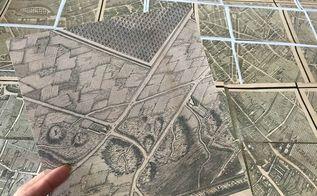 40 knock off restoration hardware paris map art 30dayflip, crafts, diy, how to, wall decor