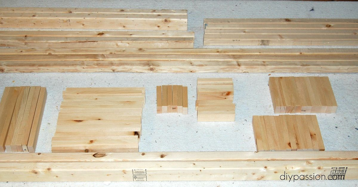 Build a modern day bed from plain old lumber hometalk - How to build a modern bed frame ...