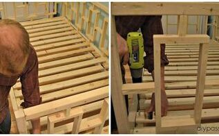 build a modern day bed from plain old lumber, bedroom ideas, diy, how to, painted furniture, woodworking projects
