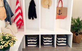 mud room storage lokers, foyer, home decor, home improvement, storage ideas