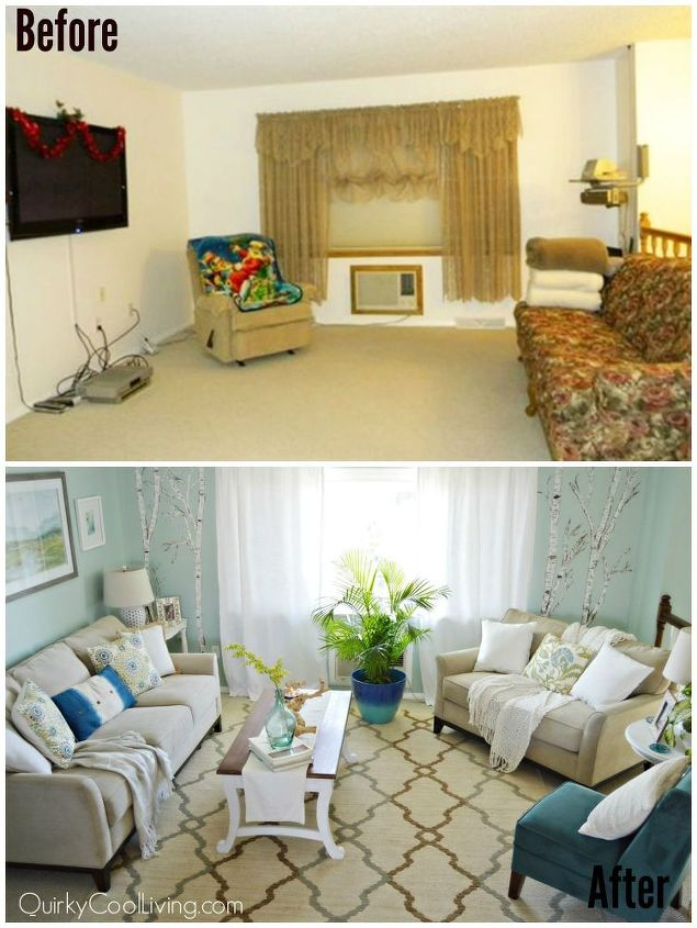Living room and dining room makeover on a budget hometalk for Small apartment living room ideas on a budget