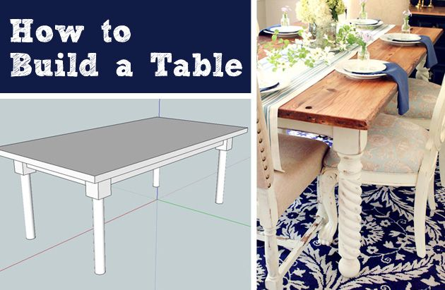 how to build a table from scratch