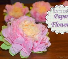 how to make paper flowers, crafts, flowers, how to