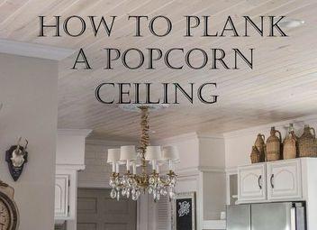 popcorn ceiling makeover low budget big impact hometalk. Black Bedroom Furniture Sets. Home Design Ideas