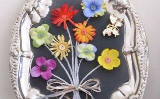 flower bouquet chalkboard art the easy way, chalkboard paint, crafts, flowers, repurposing upcycling