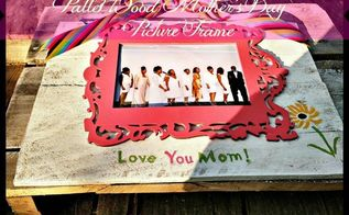 pallet wood mother s day picture frame, crafts, how to, pallet, repurposing upcycling