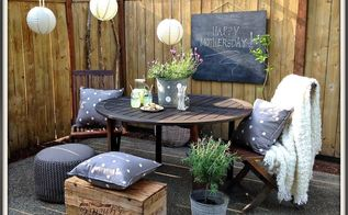 a mothers day table on the back patio, outdoor furniture, outdoor living