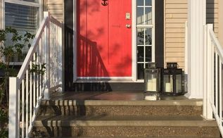 a little front door love, curb appeal, doors, painting, New Door With Anchor Installed