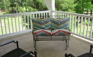 repurpose damaged patio umbrella, outdoor furniture, outdoor living, repurposing upcycling, reupholster