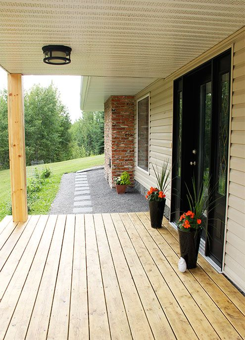 Exterior front entry and balcony makeover hometalk for Front entry decks