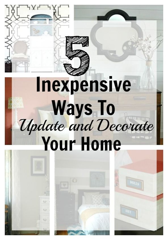 inexpensive ways to update and decorate your home bedroom ideas