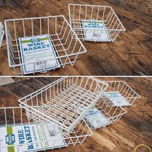 ideas for using industrial wire basket in the home, bathroom ideas, bedroom ideas, kitchen cabinets, organizing, repurposing upcycling