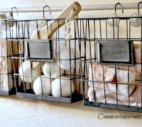 Wonderful Ideas For Using Industrial Wire Basket In The Home, Bathroom Ideas, Bedroom  Ideas,