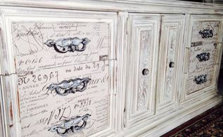 refurbished dresser french motive, painted furniture, repurposing upcycling