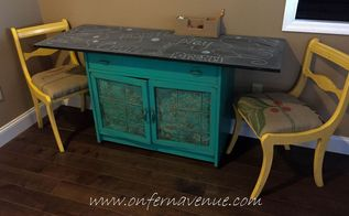 upcycled ugly cabinet turned art station, painted furniture, repurposing upcycling