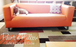 create eye catching accent pillows with paint a pillow, crafts, how to, reupholster