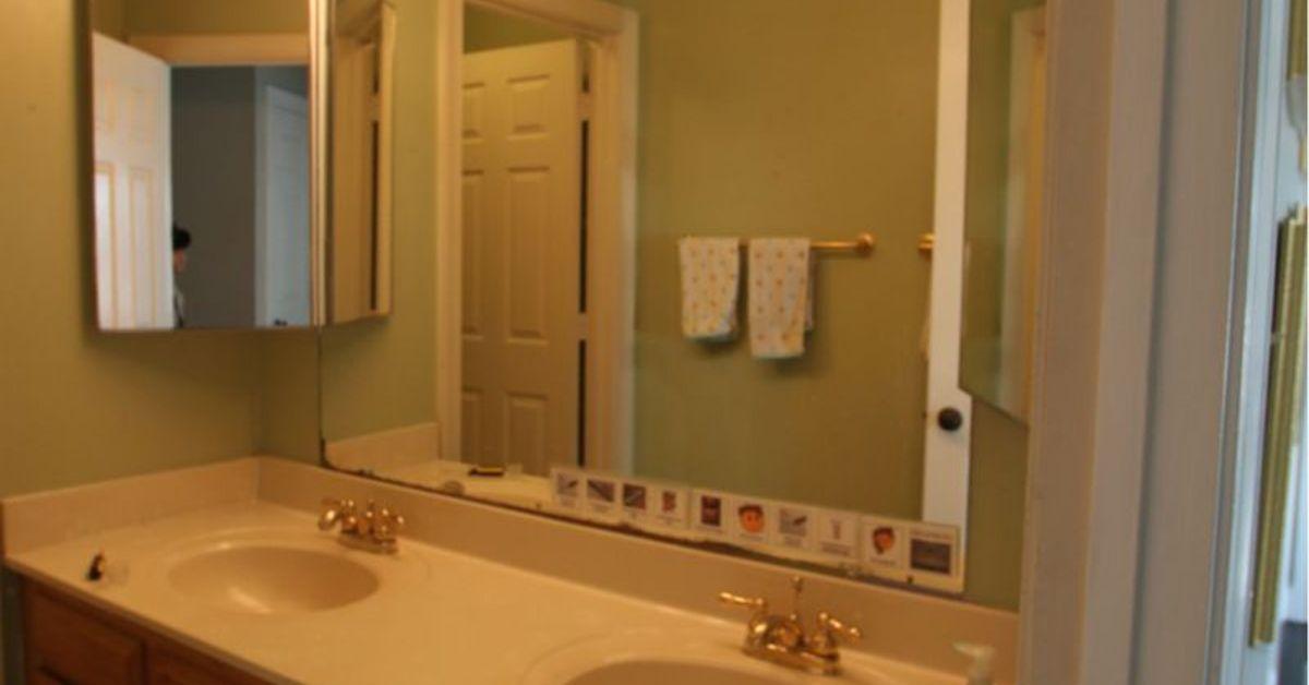 Kids vintage travel inspired bathroom renovation for for Old bathroom renovation