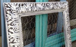 diy chicken wire frames, crafts, repurposing upcycling, wall decor