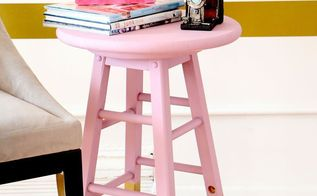 diy chalk painted side table, chalk paint, painted furniture