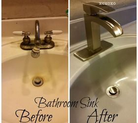 spray painted bathroom counter and sink bathroom ideas countertops how to painting