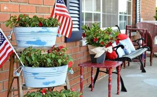 wet distressed chalky finish planters, chalk paint, container gardening, crafts, gardening, porches