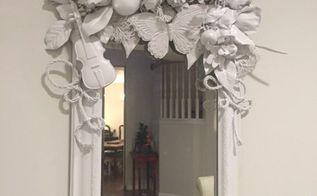 white diy mirror artist inspired, crafts, painted furniture, wall decor, My White DIY Mirror