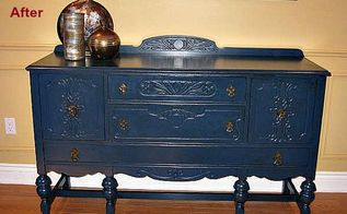beautiful blue painted buffet, painted furniture
