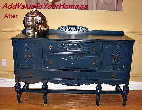 Beautiful Blue Painted Buffet Hometalk