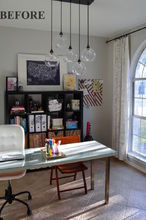 family room makeover, entertainment rec rooms, living room ideas, shelving ideas, wall decor, We LOVED this office but it didn t get used
