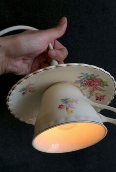teacup pendant light, crafts, how to, lighting, repurposing upcycling, Teacup pendant lamp